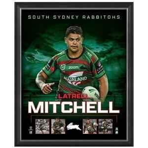 Latrell Mitchell South Sydney Rabbitohs Official NRL Player Print Framed New
