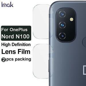 2pcs IMAK Clear Camera Lens Glass Film For OnePlus Nord N100 / N10 5G / 8T 5G