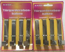 EF 8x Türgarderobenhaken 4,62€/1SET Metall,2x4er Türhaken,Garderobenhaken eckigH