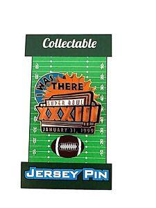 Denver Broncos jersey lapel pin-Classic Super Bowl XXXIII 1999 Collectible