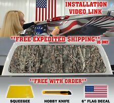 CAMO CAMOUFLAGE PICKUP TRUCK BACK WINDOW GRAPHIC DECAL TINT HUNTER OAK PERF..