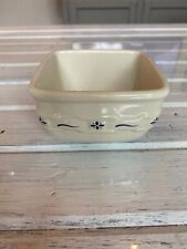 Longaberger Soft Square Smll Bowl - Traditional Blue - Used