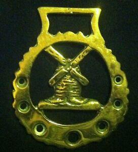 Wonderful Vintage WINDMILL Harness Brass England WOW YOUR WALLS! Windmill Decor