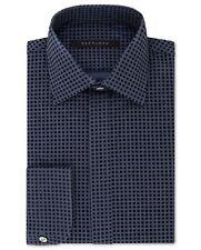 $95 SEAN JOHN Men TAILORED-FIT BLUE FRENCH-CUFF BUTTON DRESS SHIRT 15.5 34/35 M