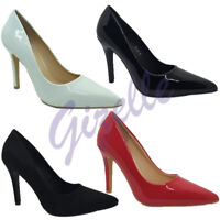 Ladies Womens Pointy Toe High Heel Court Party Work Shoe UK Size 3-8