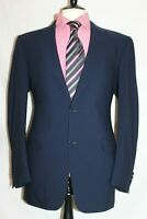 "MENS ITALIAN CANALI  PICK STITCHED NAVY DESIGNER SUIT UK 40 LONG W34"" X L32"