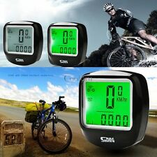 Backlight Cycling Bike Bicycle Cycle Computer Odometer Speedometer Waterproof