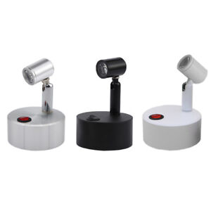 3W LED Light Battery-Powered portable Lamp Button Picture Spotlight Cabinet New