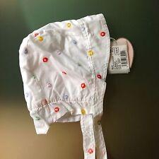 Chapeau de Soleil Coton MARÈSE Bébé Fille 45cm 6/12 mois NEUF