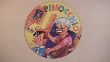 UNPLAYED Toy Toon Cardboard Picture Record PINOCCHIO/SNOOPY SNIFFER 78RPM 50s