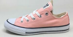 Converse Unisex Kids CT All Star Ox Skate Shoes Storm Pink White Size 2 M US