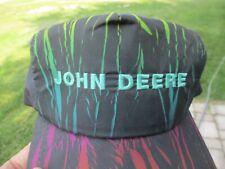 Vintage John Deere Patch Snap Back Hat K-Products Farm Rare Style