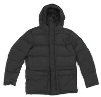 UNIQLO Black Down Quilted Down Hooded Mens Puffer Coat Jacket size Medium