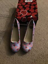 TUk Multicolored Floral Heel Womans Size 9 NWOT