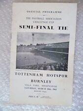 1961 Tottenham Hotspur v Burnley, 18th March (FA Cup semi FINAL)