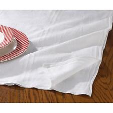 Plain Fabric Tablecloth / Linen White 110 x 110 cm