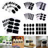 Chalkboard Blackboard Chalk Board Stickers Decals Craft Kitchen Jar Labels Tags