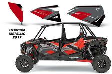 AMR Racing OEM UTV 4 Door Graphics Inserts for Polaris RZR 1000 TITANIUM MTALIC