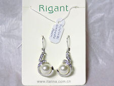 Rigant Swarovski Element Pearl Earrings