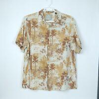 Jimmy Buffett Margaritaville 2XL Hawaiian Men's Button Shirt XXL Silk & Linen