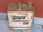ancien vintage BIDON D'HUILE MOTEUR 5L tin can tank MOTOR COFRANC OIL collection