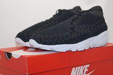 Nike Air Footscape Woven Chukka Eu 41 UK 7 Black White Suede 443686 004