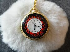 Pretty Swiss Made American Heritage Wind Up Necklace Pendant Watch