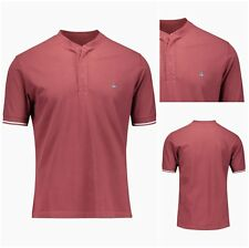 100% AUTHENTIC VIVIENNE WESTWOOD BURGUNDY FITTED HENLEY POLO SHIRT. SMALL