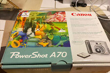 Canon Power Shot A70 Digital Camera Open Box New Original Geniune Box Helix