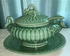 Vintage Porta  Swan Ceramic Soup Tureen, with Ladle and Under Plate, Portugal