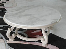 MID 20c WEIMAN HEIRLOOM JAMES MONT STYLE LACQUER COFFEE TABLE ITALIAN MARBLE TOP