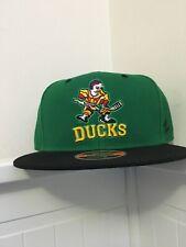Anaheim Mighty Ducks Movie Logo SnapBack Hat Green Black