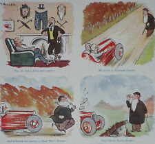 What Right Has A Pedestrian To Live Vintage Car Patrick Bellew 1930 2 Page Print