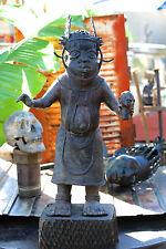 Large Vintage African Tribal Benin Cast Bronze Figure