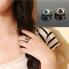 Blue Color Gothic Rings Exaggerated For Men Women Fashion Eyes Rings Jewelry