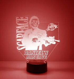 Scarface Light Up, Personalized LED Scarface Night Light Lamp, w/ Remote Control