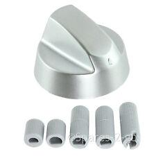 2 x Baumatic Argent Gris contrôle pour four, cuisinière, plaque de cuisson Bouton commutateur + kit adaptateur