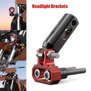 1PC Motorcycle 8mm CNC Aluminum Headlight Spot Light Extension Mount Rod Bracket