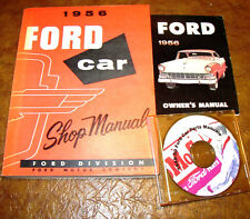 1956 FORD CAR SHOP MANUAL SERVICE BOOK Orig Fairlane Mainline Skyliner & BONUS