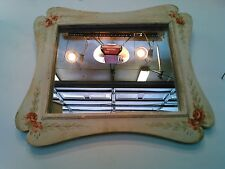 antique vintage primitive Victorian style wall hanging mirror country deco old