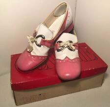Gaymode Saddle Shoes Pink White 50's Heels Cosplay Costume Rare Size 6.5 Vintage