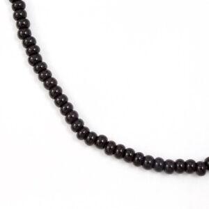4/0 Opaque Black Czech Seed Bead (40 gram) #CSU002
