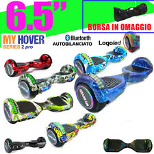 "HOVERBOARD 6.5"" LUCI LED E BLUETOOTH SPEAKER SCOOTER OVERBOARD AUTOBILANCIATO"