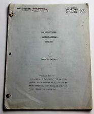 The Bionic Woman * 1976 TV Show Script * Lindsay Wagner, first female cyborg
