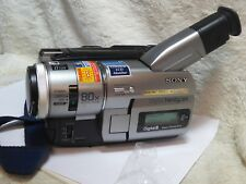 SONY DCR-TRV110E DIGITAL 8 CAMCORDER OUTFIT three batteries