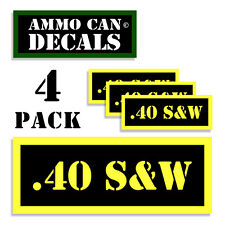 .40 S&W Ammo Can Label 4x Ammunition Case stickers decals 4 pack YW MINI 1.5in