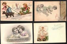 4 MISC.CHILDREN GREETINGS.1901-28.OLD POSTCARDS.#2