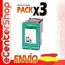 3 Cartuchos Tinta Color HP 343 Reman HP Photosmart 385
