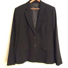 ANNE KLEIN Size 12 BLACK SUIT BLAZER Large Jacket CAREER OFFICE BUSINESS Coat