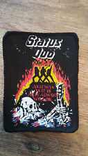USED Status Quo as it was rare vintage music patch Sew On metal USED